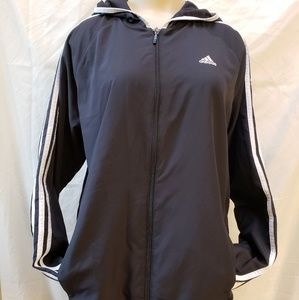 Adidas black classic track jacket,  size L